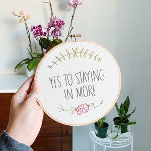 30 Rock Handmade Embroidery Hoop